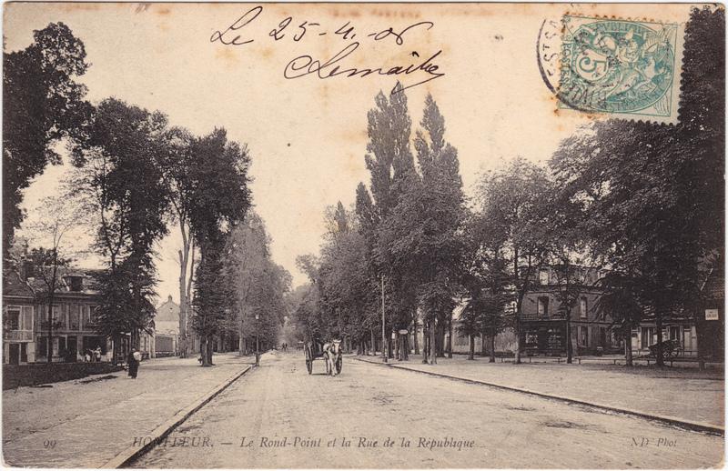 Honfleur Rue de la Republique 1908