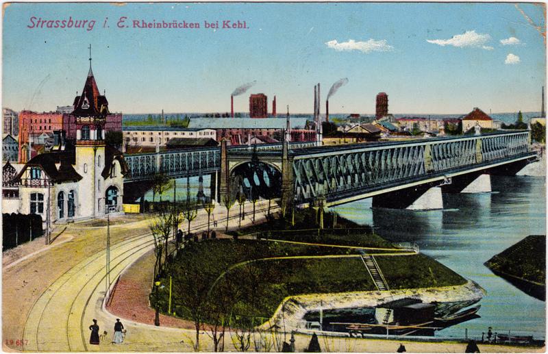 Kehl (Rhein) Rheinbrücken bei Kehl 1912