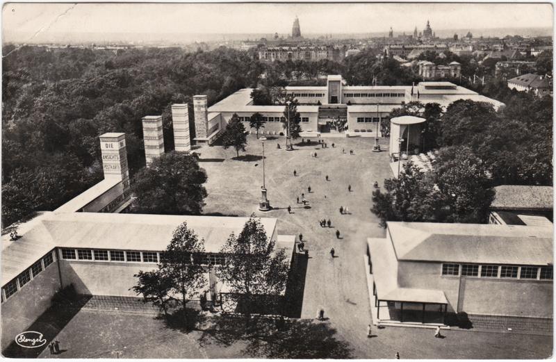 Dresden Drježdźany Jahresschau Deutscher Arbeit - Gelände und Stadt 1927