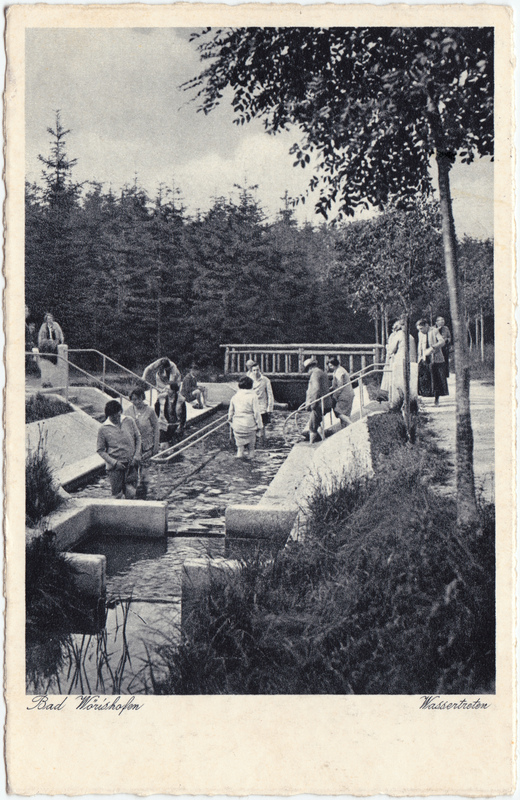 Bad Wörishofen Wassertreten 1938