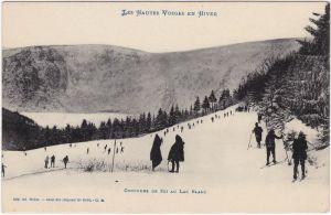 Urbeis Orbey Skifahrer auf der Piste - Vosges 1913