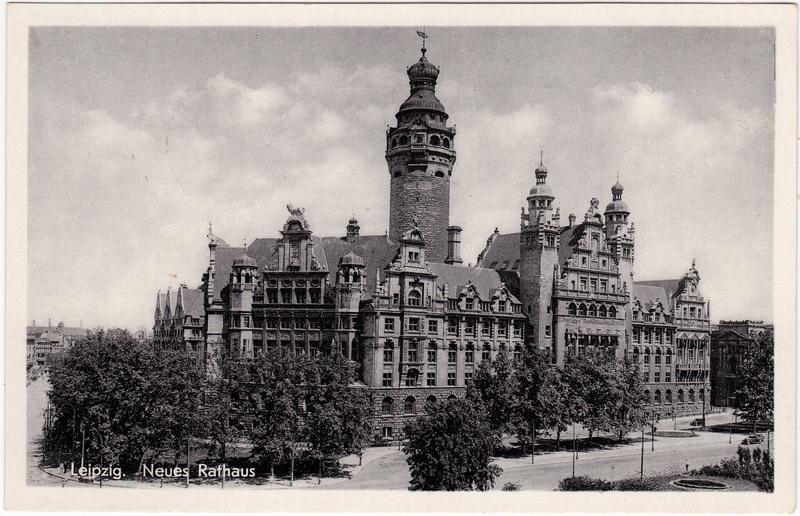 Ansichtskarte Leipzig Neues Rathaus 1959