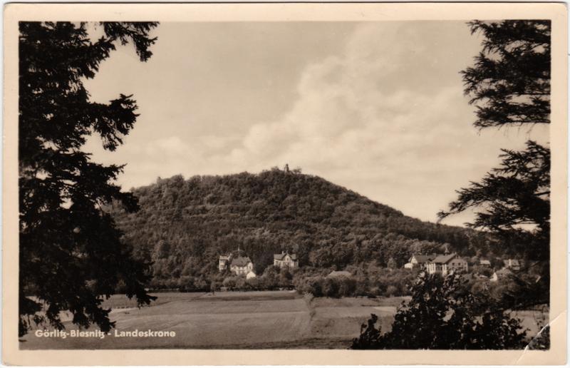 Ansichtskarte Biesnitz Görlitz Zgorzelec Landeskrone 1955