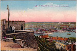 Boulogne-sur-Mer Vue prise du Calvaire Nord pas de Calais  1917