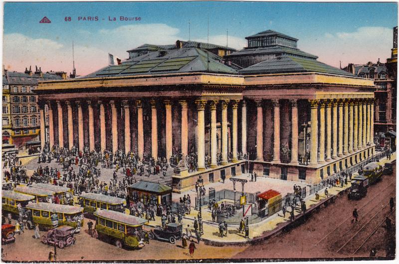 Paris Die Börse CPA Ansichtskarte 1917