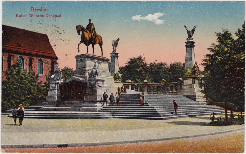 Breslau Wrocław Kaiser-Wilhelm-Denkmal 1924