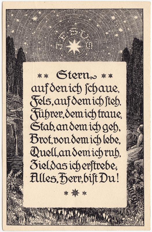 Liedkarten: Jesus- Stern auf den ich Schaue, Fels auf dem ich Steh.. 1828
