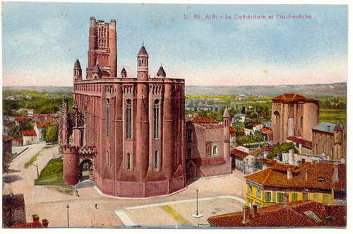 Albi La Cathédrale et l Midi-Pyrénées Tarn CPA Ansichtskarte 1916
