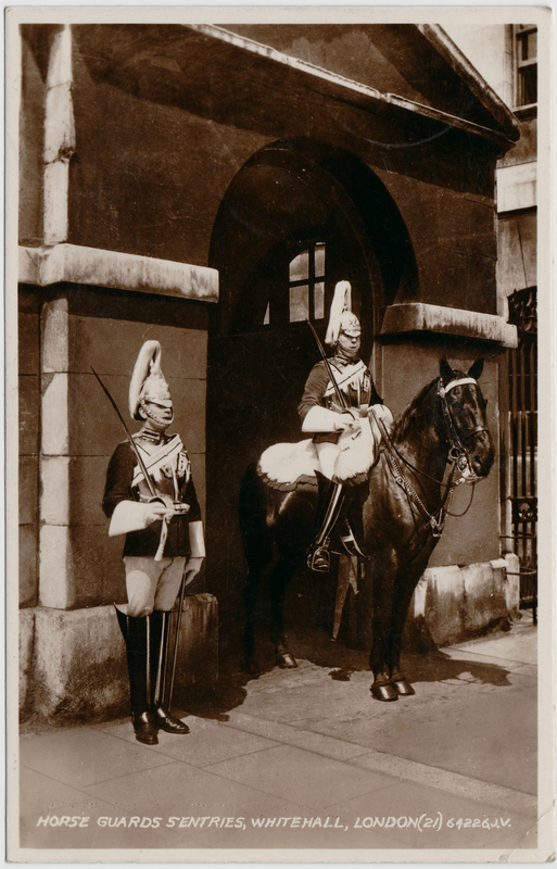 London Horse Guards S'Entries, Whitehall 1934
