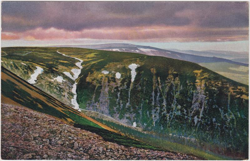 Krummhübel Karpacz Blick von der Schwarzen Koppe in den Melzergrund - Stimmungsbild Riesengebirge 19