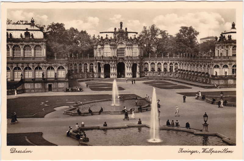 Foto Ansichtskarte  Altstad Dresden Drježdźany Zwinger, Wallpavillon 1933