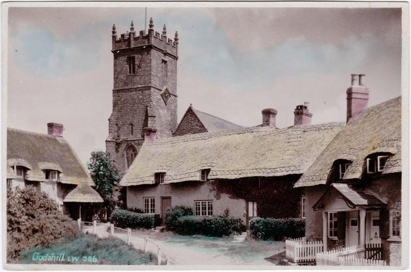 Godshill (Ile of Wight) Godshill Vintage Postcard 1932
