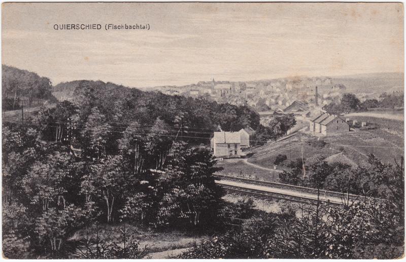 Quierschied Partie an der Stadt 1914
