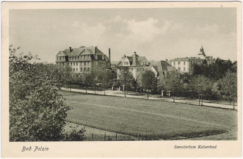 Bad Polzin Połczyn Zdrój Straßenpartie - Sanatorium Kaiserbad 1922