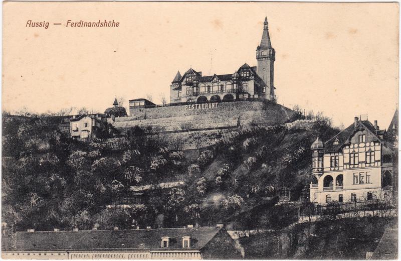 Aussig Ústí nad Labem (Ustji, Ustjiss) Partie an der Ferdinandshöhe 1913