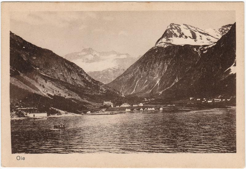 Øie Norwegen Dorf  Postcard Norge Norway Ansichtskarte 1921