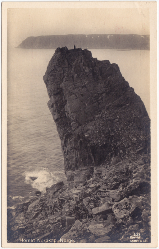 Foto Postcard Nordkap Norge Norway Davvinjárgga Hornet Nordkap 1929