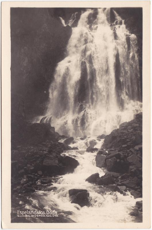 Odda Espelandsfossen Hordaland Norge Norway 1934