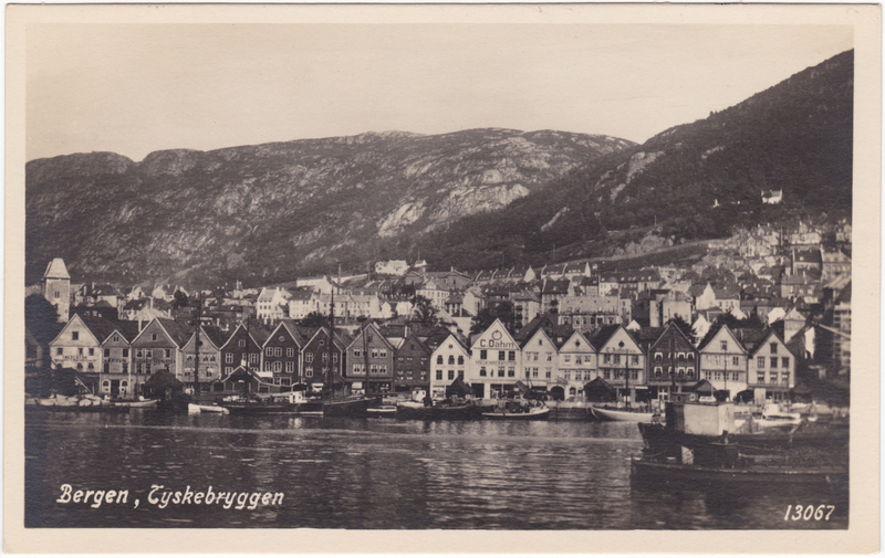 Bergen Bergen Stadt- Tyskebryggen 1929
