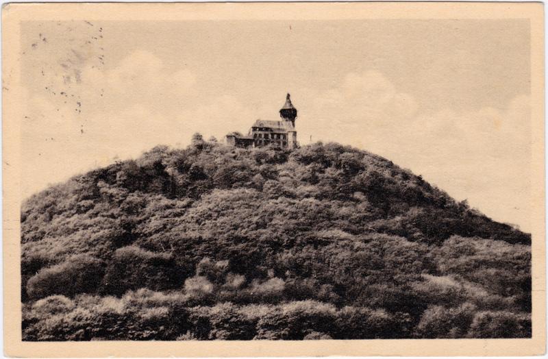 Ansichtskarte Brüx Most Landeswarte (Burg Hněvín) 1964