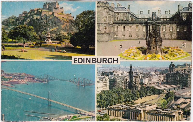Edinburg Dùn Èideann Brücke Castle Totale Postcard 1998