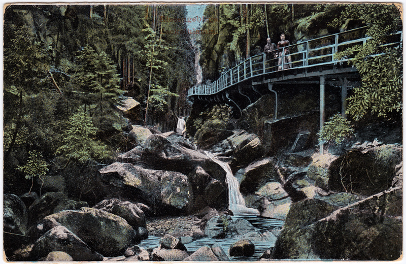 Hirschberg (Schlesien) Jelenia Góra Zackelfall/Zackelklamm Brücke 1913