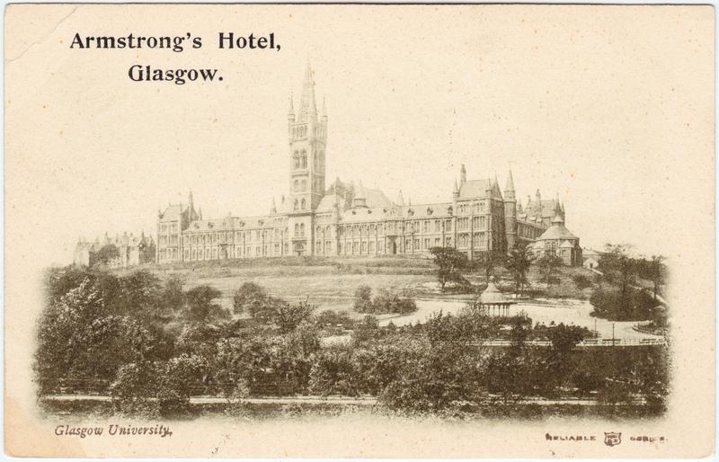 Postcard Glasgow University 1912