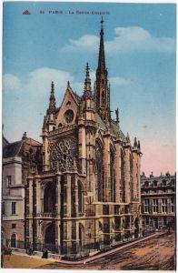 Paris La Sainte Chapelle CPA Ansichtskarte  1922