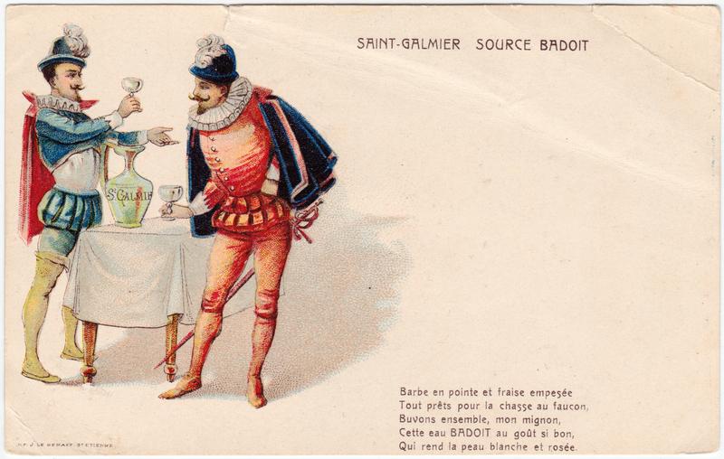 Saint Galmier Mineralwasser - Source Badoit  Montbrison Loire 1908