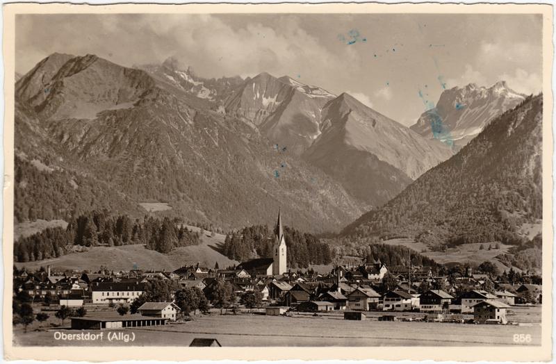 Oberstdorf (Allgäu) Panorama 1951