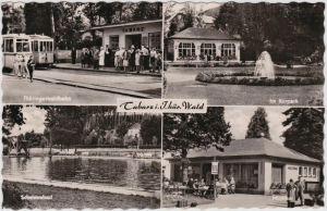 Tabarz/Thüringer Wald Thüringerwaldbahn, Schwimmbad, Milchbar, Kurpark 1962