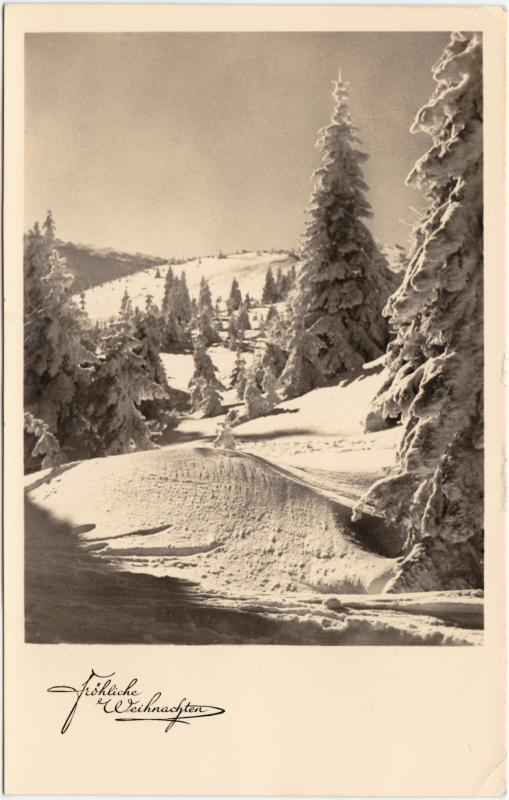 Glückwunsch Weihnachten: Fröhliche Weihnachten 1950