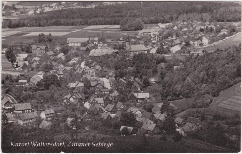 Waltersdorf-Großschönau (Sachsen) Totalansicht 1957