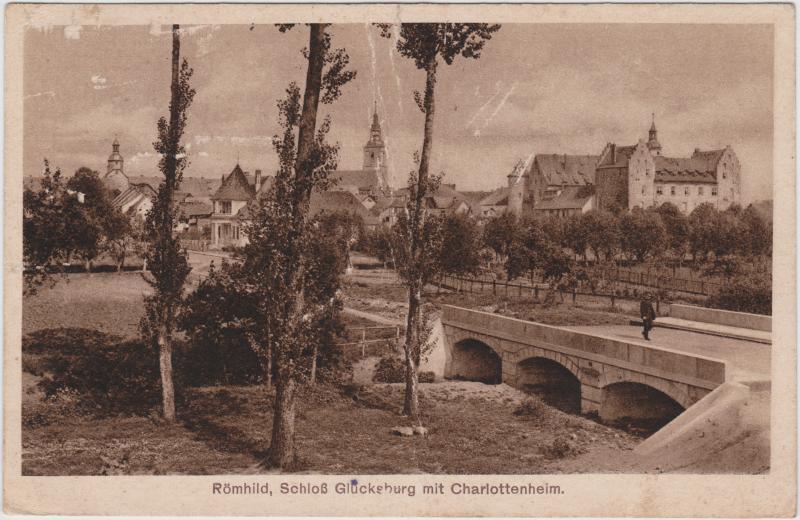 Römhild-Gleichberge Schloß Glücksburg mit Charlottenheim 1919