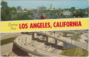 Los Angeles Los Angeles Civil Center and Freeway  1962