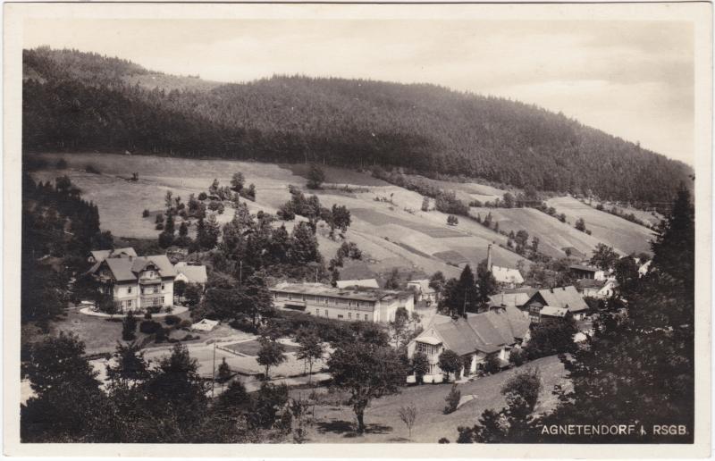 Agnetendorf-Hirschberg (Schlesien) Jagniątków Jelenia Góra Panorama mit Hotels 1939