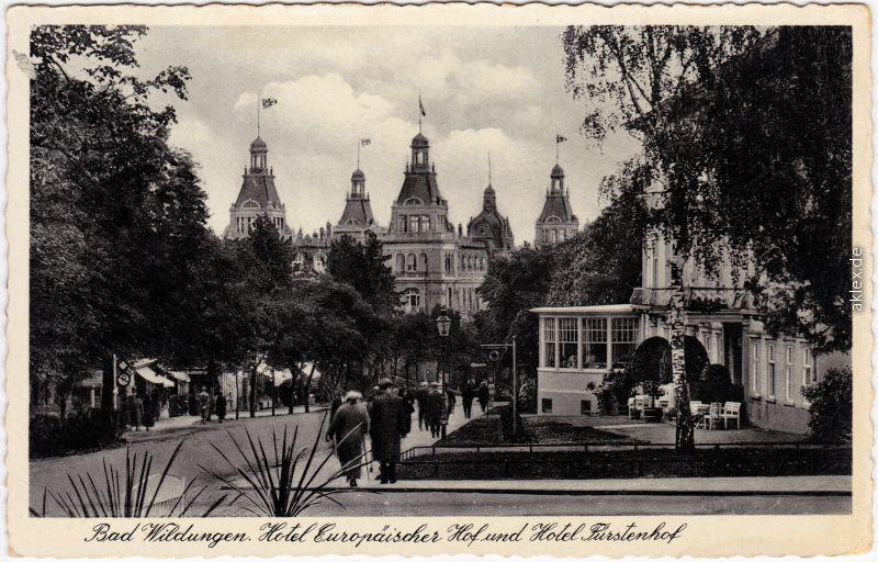 Bad Wildungen Hotel Europäischer Hof und Hotel Fürstenhof 1933