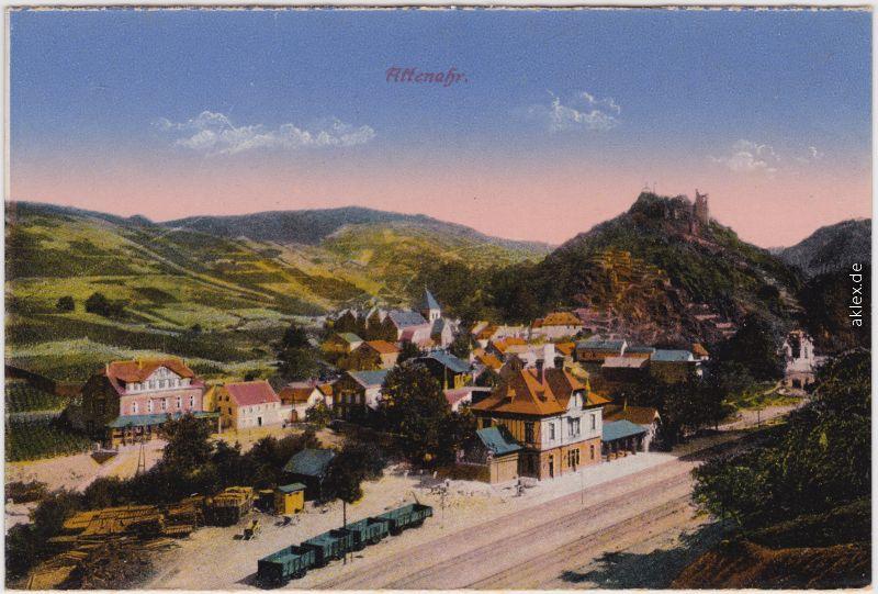 Altenahr Blick auf den Bahnhof 1914