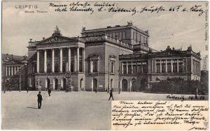 Leipzig Partie am Neuen Theater 1906