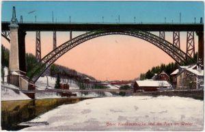 Bern  Kornhausbrücke und die Aare im Winter 1911