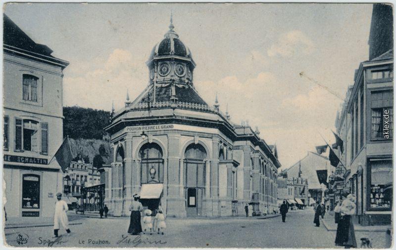 Spa (Stadt) Spa (kêr) (Spå / Spâ) Le Pouhon 1914
