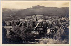 Schreiberhau Szklarska Poręba vom Bahnhof aus gesehen - Hotel 1929
