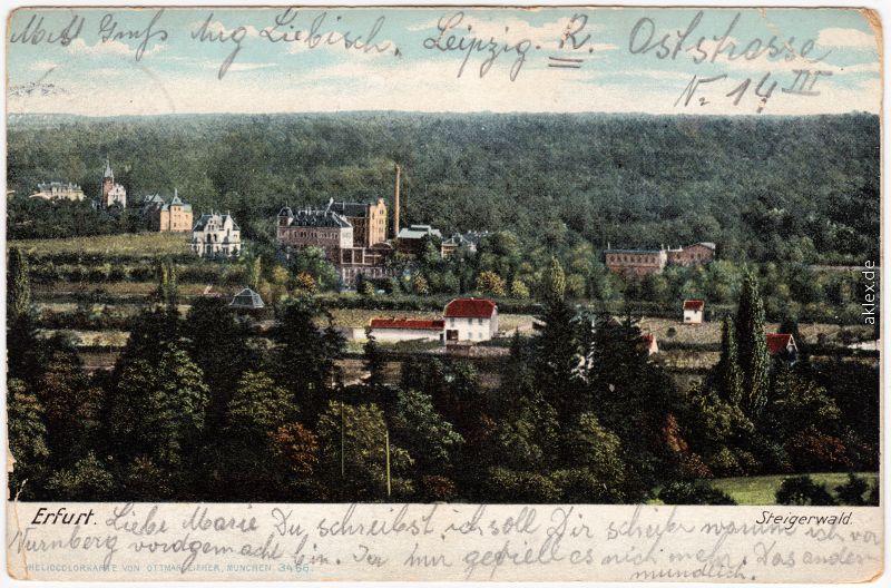 Löbervorstadt-Erfurt Steigerwald 1907
