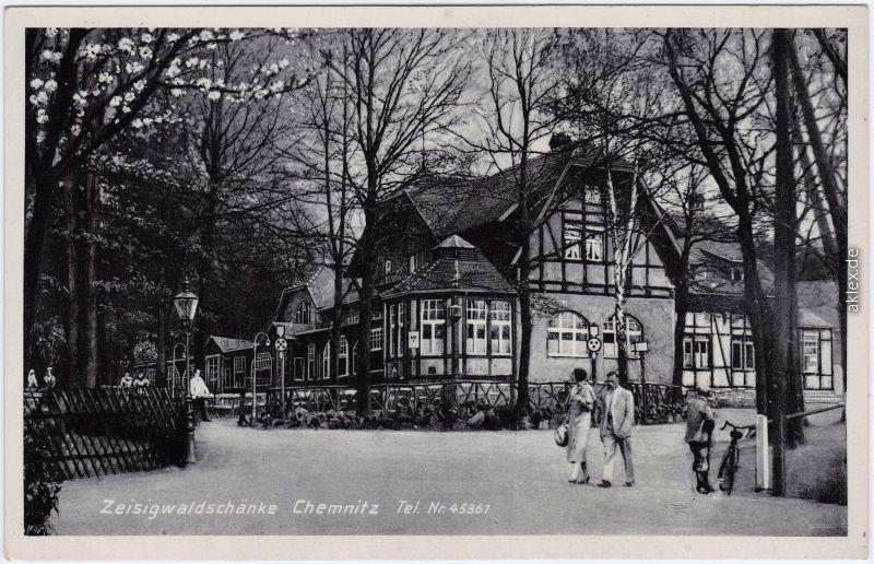 Chemnitz 1953-1990 Karl-Marx-Stadt Zeisigwaldschänke 1940 Nr. 43643 ...