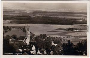 Schönberg am Kapellenberg-Bad Brambach Luftbild - Schönberg Hotel Deutsches Haus 1930