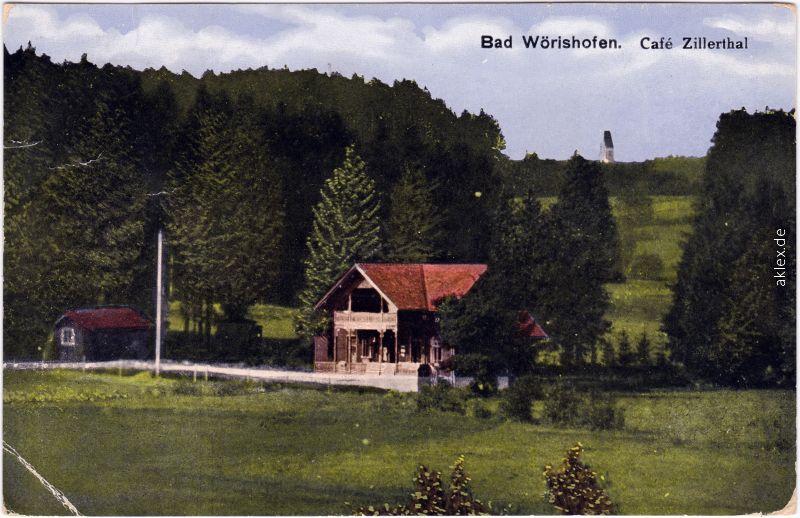 Bad Wörishofen Café Zillerthal 1921
