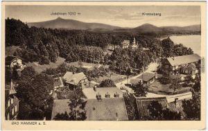 Hammer am See Hamr na Jezeře Straßenpartie - Blick über die Stadt 1922