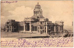 Brüssel Bruxelles Palais de Justice 1902