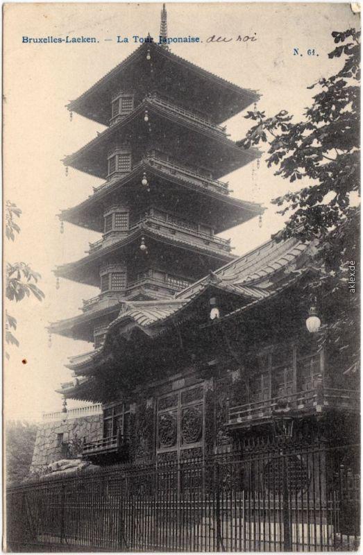 Laken-Brüssel Laken (Laeken) Bruxelles La Tour Japonaise 1906
