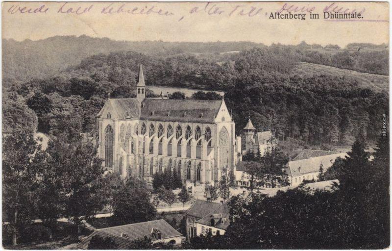 Altenberg Odenthal Dom und Stadt Ansichtskarte g 1911